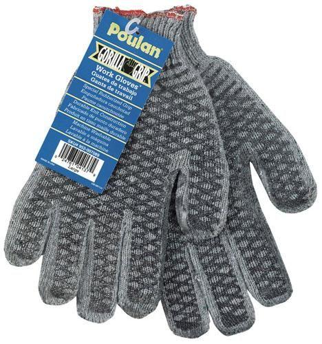 Lowes Work Gloves >> Poulan Work Gloves Gorilla Grip 952007089